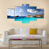 Blue lagoon in Malta on the island of Comino Malta Multi Panel Canvas Wall Art
