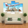 Famous monuments of the world illustrating the travel and holidays Multi panel canvas wall art