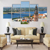 Aerial view of Riga, Latvia Multi panel canvas wall art