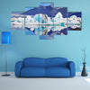 Sunrise, Icebergs and ice floes floating in the Gulf of Jökulsárlón in Iceland multi panel canvas wall art