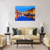 Scenic summer evening panorama of Old Port pier architecture Multi panel canvas wall art