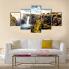 The Victoria falls is the largest curtain of water in the world The falls and the surrounding area Multi panel canvas wall art