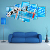 robot manipulates chemical tubes in the laboratory multi panel canvas wall art