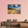 Evening light at the beach in Naples, Florida multi panel canvas wall art