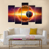 aliens planet approaching planet Earth Multi Panel Canvas Wall Art
