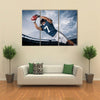 American Football Player catching a touchdown Pass Multi panel canvas wall art