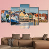 Beautiful view of the old town of Husum, Germany multi panel canvas wall art
