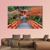 Early autumn at Daigoji Temple in Kyoto, Japan multi panel canvas wall art