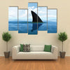 Beautiful Shark fin above water Multi Panel Canvas Wall Art