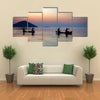 There are Four Men Who Are Boating In The Lake Malawi, Multi Panel Canvas Wall Art