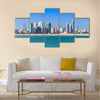 Skyline of Manama city, Bahrain Middle East Multi panel canvas wall art
