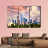 Dallas City skyline at sunset, Texas, USA Multi panel canvas wall art