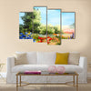 Oil painting - field of flowers, abstract drawing Multi Panel Canvas Wall Art