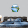 Beautiful Canadian Landscape hexagonal canvas wall art