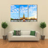 The Beauty Of The Pha That Luang Temple In Vientiane, Laos, Lao P.D.R  Multi Panel Canvas Wall Art