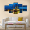 Oil rig in the yards Apapa, Port of Lagos, Nigeria Multi panel canvas wall art