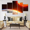 global warming in Europe - greenhouse Multi Panel Canvas Wall Art