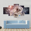 Astronaut In Snow Multi Panel Canvas Wall Art