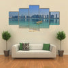 View of skyline and Beach of Abu Dhabi United Arab Emirates Multi panel canvas wall art