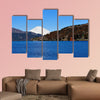 Hakone Lake and Mount Fuji in Japan, with a torii gate Multi panel canvas wall art