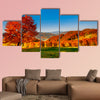 Colorful autumn landscape, Carpathian multi panel canvas wall art