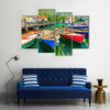 So Many Colorful Boats Making The Eyes Glaring With A Landscape Of Summer In Itlay, Multi Panel Canvas Wall Art