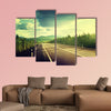 Road in Russian mountains multi panel canvas wall art