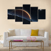 Phobos with the red planet Mars in the background Multi Panel Canvas Wall Art