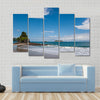 View over a beautiful pacific beach at Manuel Antonio, Costa Rica, National Reserve Multi panel canvas wall art