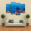A Glaring Panoramic View Of Corcovado Mountains In Rio De Janeiro, Multi Panel Canvas Wall Art