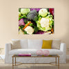 Healthy fresh cruciferous vegetables with cabbage, Multi panel canvas wall art