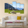 A small farm in Swiss Alps, Bodmen, Valais, Switzerland multi panel canvas wall art