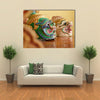 Hua Khon (Thai Traditional Mask) Used In Khon - Thai Traditional Dance Of The Ramayana Epic Saga Multi Panel Canvas Wall Art