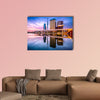 Tokyo, Japan skyline on the Sumida River at dawn multi panel canvas wall art