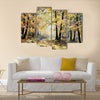 Oil painting landscape - autumn forest Multi Panel Canvas Wall Art