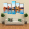 sea sunset in the harbor of the Old Town of Helsinki, Finland multi panel canvas wall art