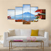 Mt. Fuji With Chureito Pagoda Fijiyoshida Japan, Multi Panel Wall Art