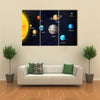 Orbit Vector Illustration Of All Planets Multi Panel Canvas Wall Art