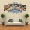 View of St Peter Square and Rome from the Dome of St Peter Basilica Vatican Multi panel canvas wall art