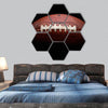Beautiful football hexagonal canvas wall art