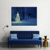 The Snow Has Covered Everything, Including The Christmas Tree, Multi Panel Canvas Wall Art