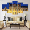 The Town Hall and the Burg Square in Bruges Multi panel canvas wall art