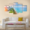 Panoramic view of Netanya city, Israel Multi Panel Canvas Wall Art