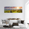 Sunset light with rainbow panoramic canvas wall art