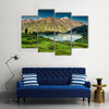 Big Almaty Lake in the mountains of Zaili Alatay, Kazakhstan, Central Asia Multi Panel Canvas Wall Art