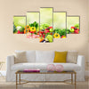 Fruits and vegetables Multi panel canvas wall art