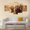 Rangers with a rifle aiming at a target Multi Panel Canvas Wall Art