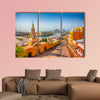 Clock Tower Gate in Cartagena's old city multi panel canvas wall art
