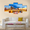 A city skyline in the downtown, Nashville, Tennessee, USA, Multi Panel Canvas Wall Art