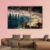 Copacabana Beach at night in Rio de Janeiro, Brazil multi panel canvas wall art
